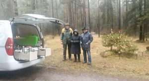 Silvana and Jurgen- in forest Xmas Eve-0001