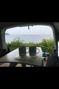 Two cups of tea on table-0001